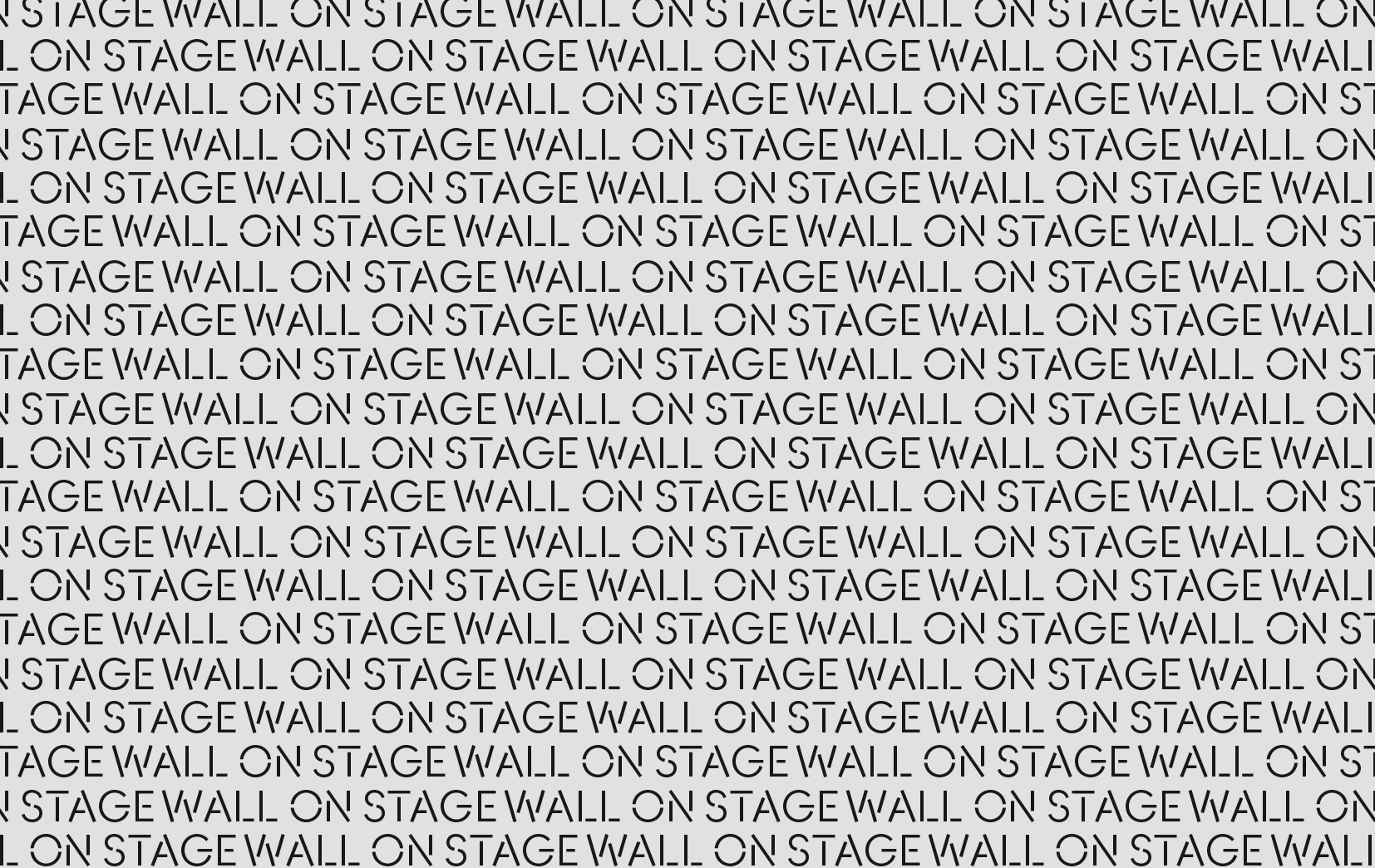 all-over wall on stage