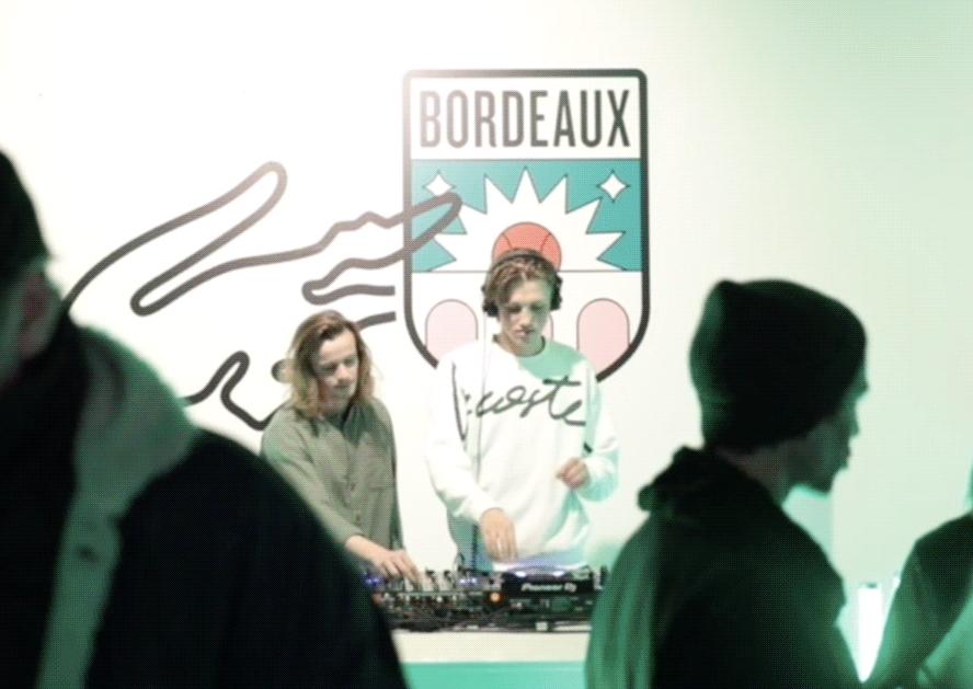 DJ lacoste croc bordeaux activation