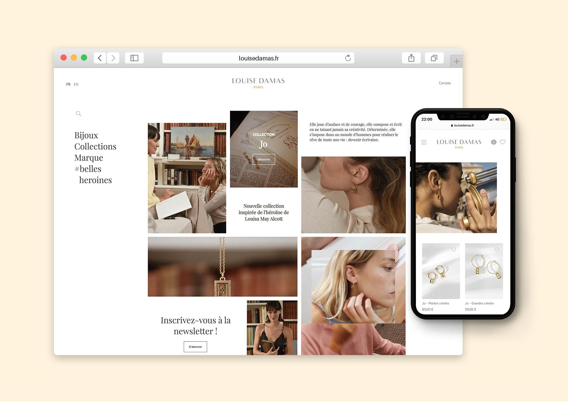 web et mobile louise damas