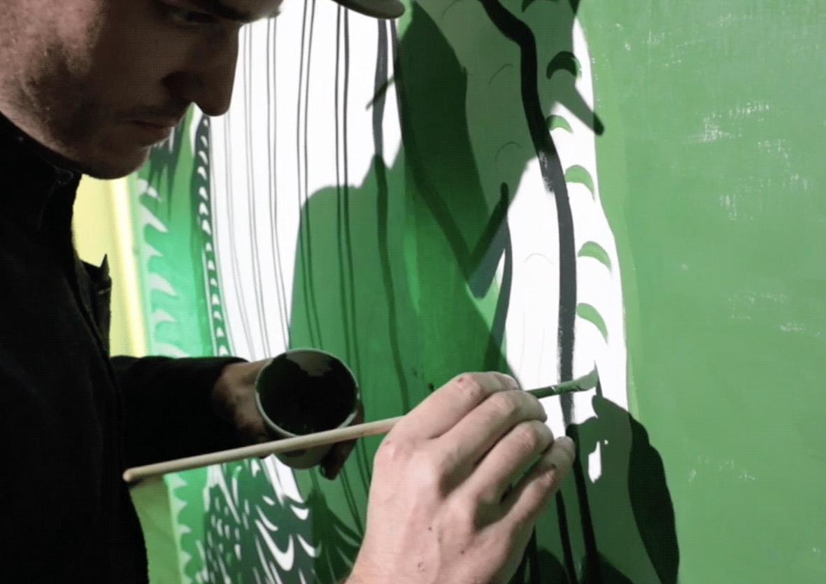 street artiste lacoste croc bordeaux activation