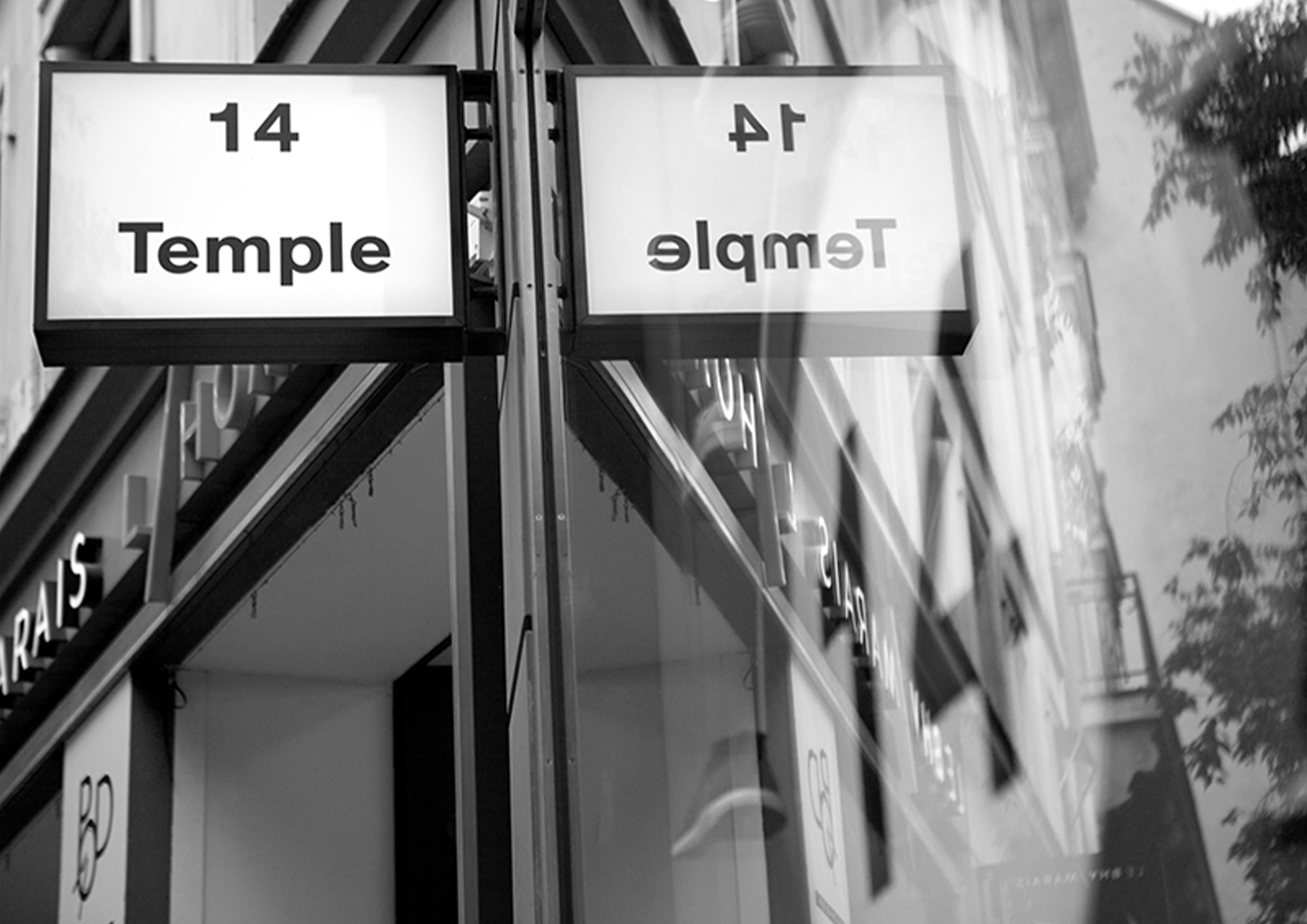 signaletique 14 temple BHV marais