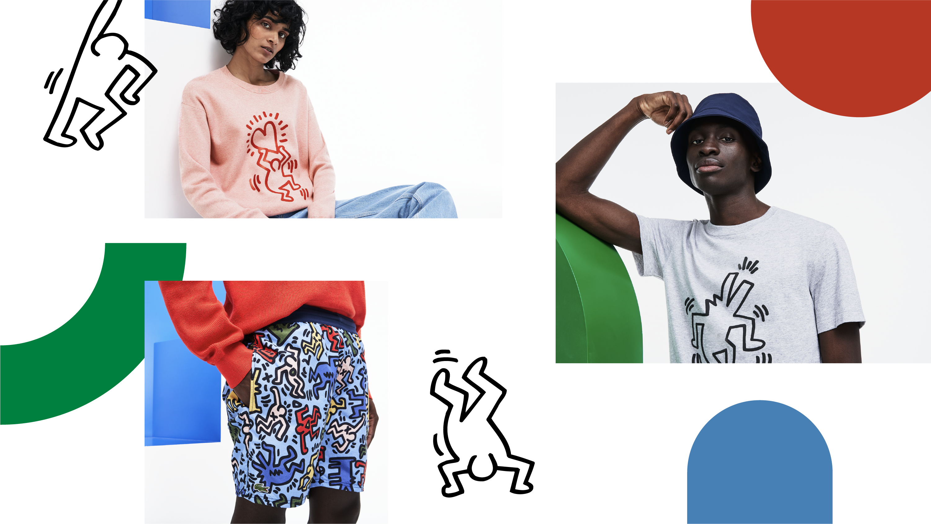 nouvelle collection keith haring lacoste activation