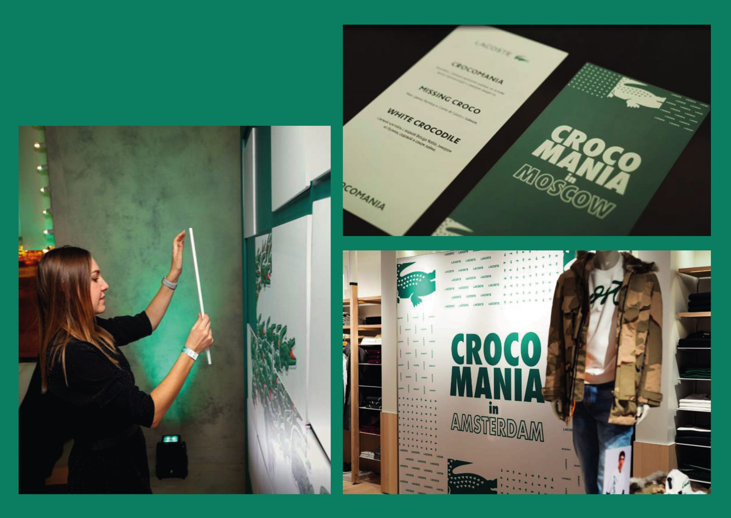 instore display activation lacoste crocomagic
