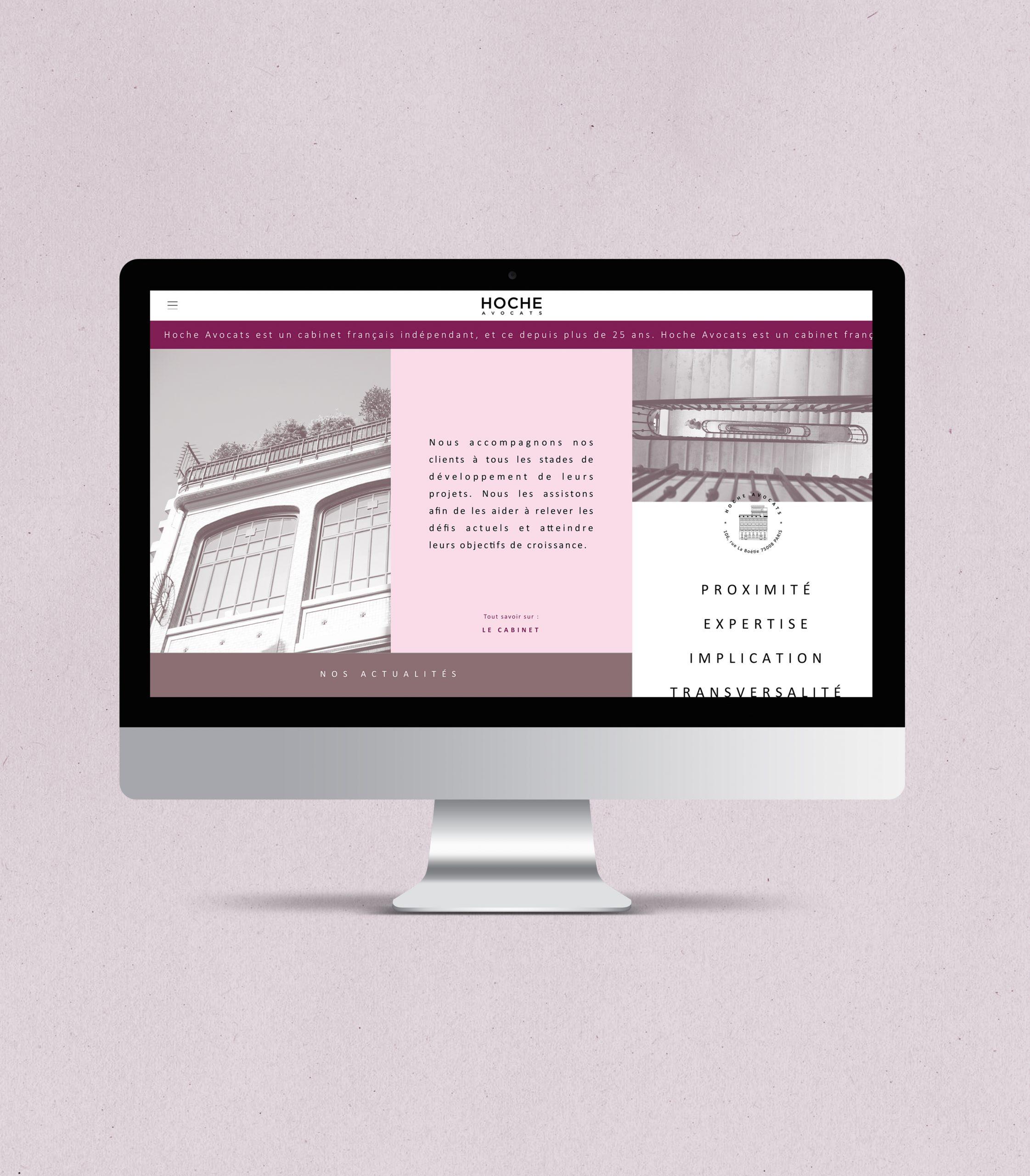 Homepage Hoche Avocats