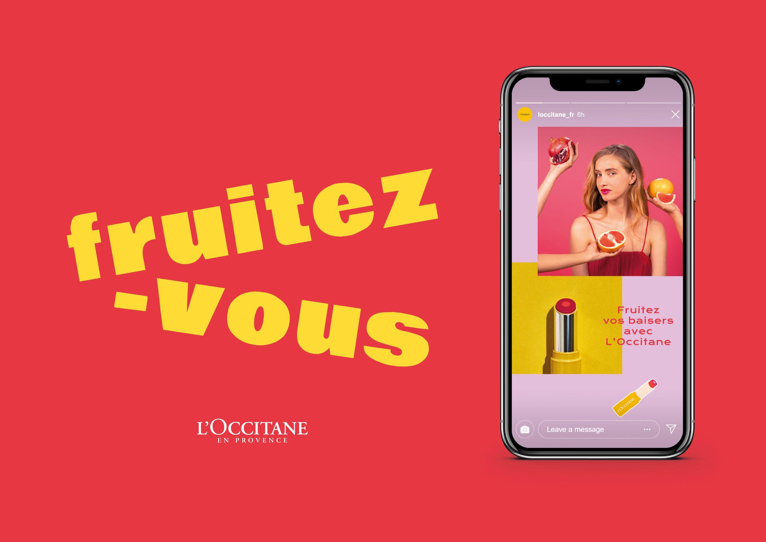 mobile l'occitane fruitez vous maquillage