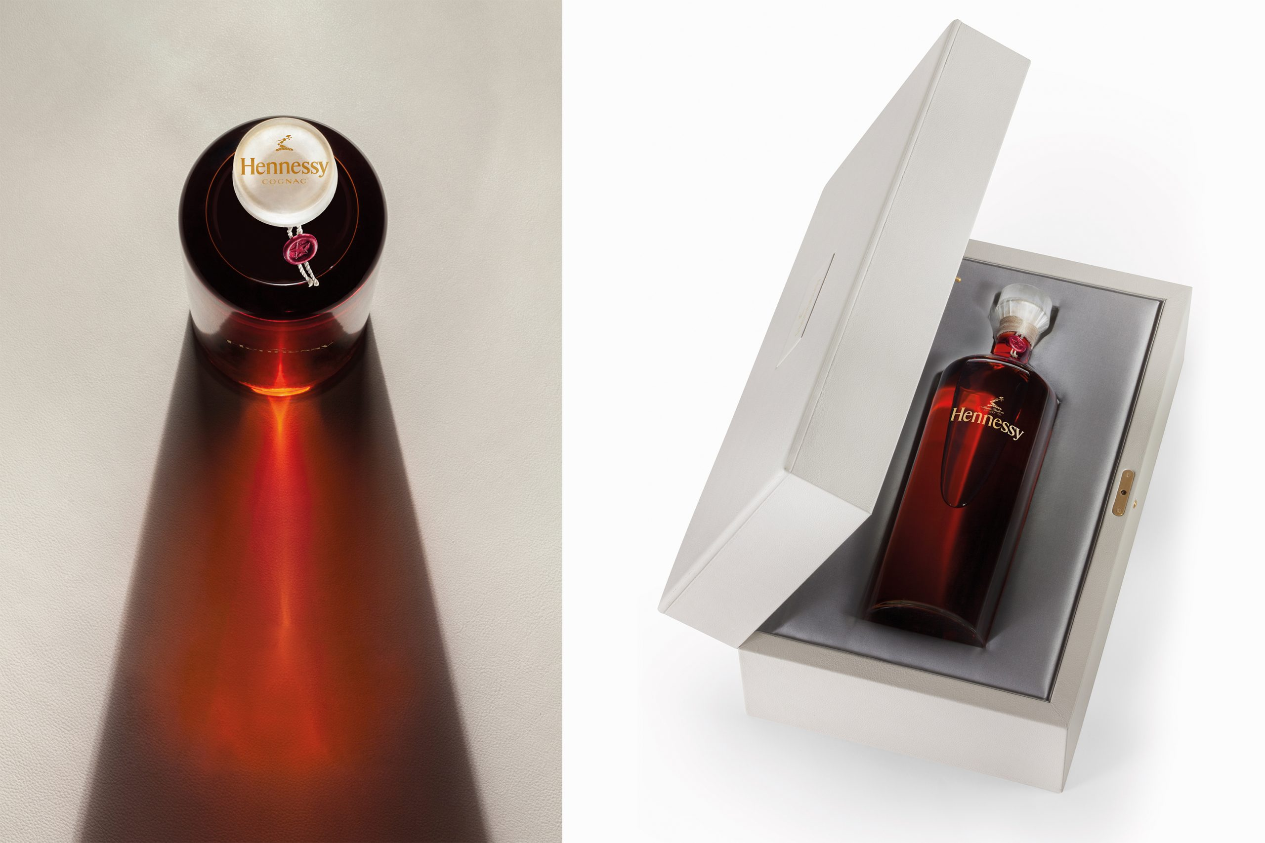 reflet et coffret Hennessy edition particuliere