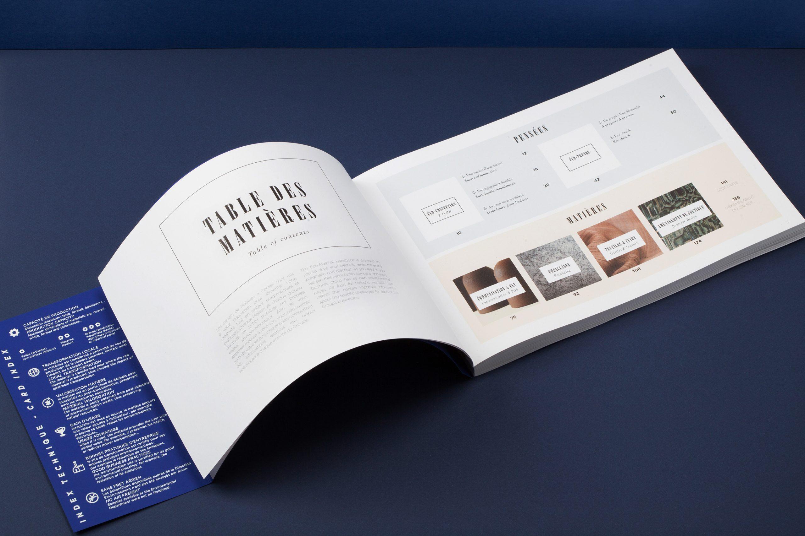 table des matières livre LVMH eco-conception