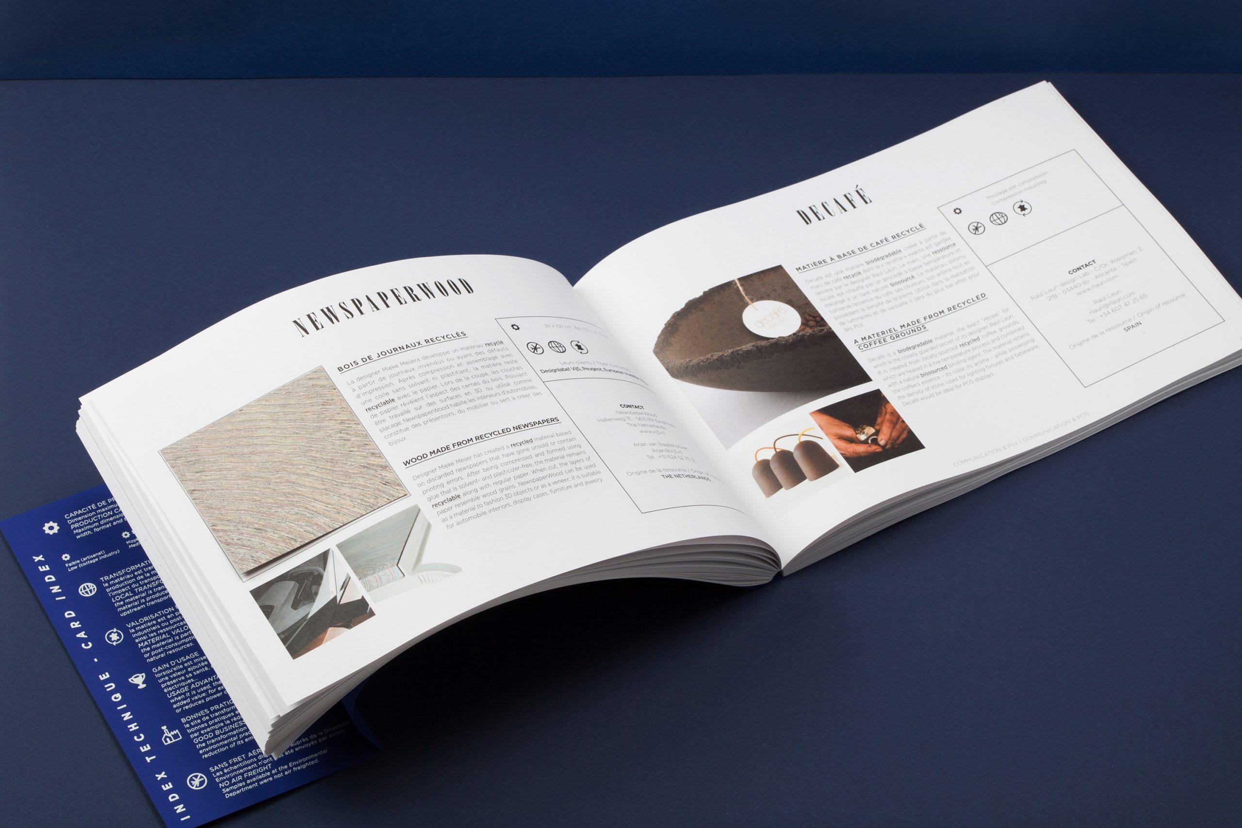 double page présentation matière eco-conception