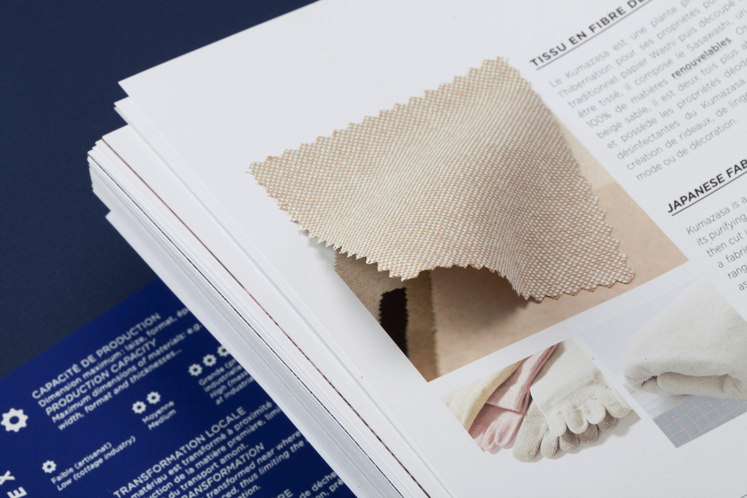 détails matière tissu eco-conception