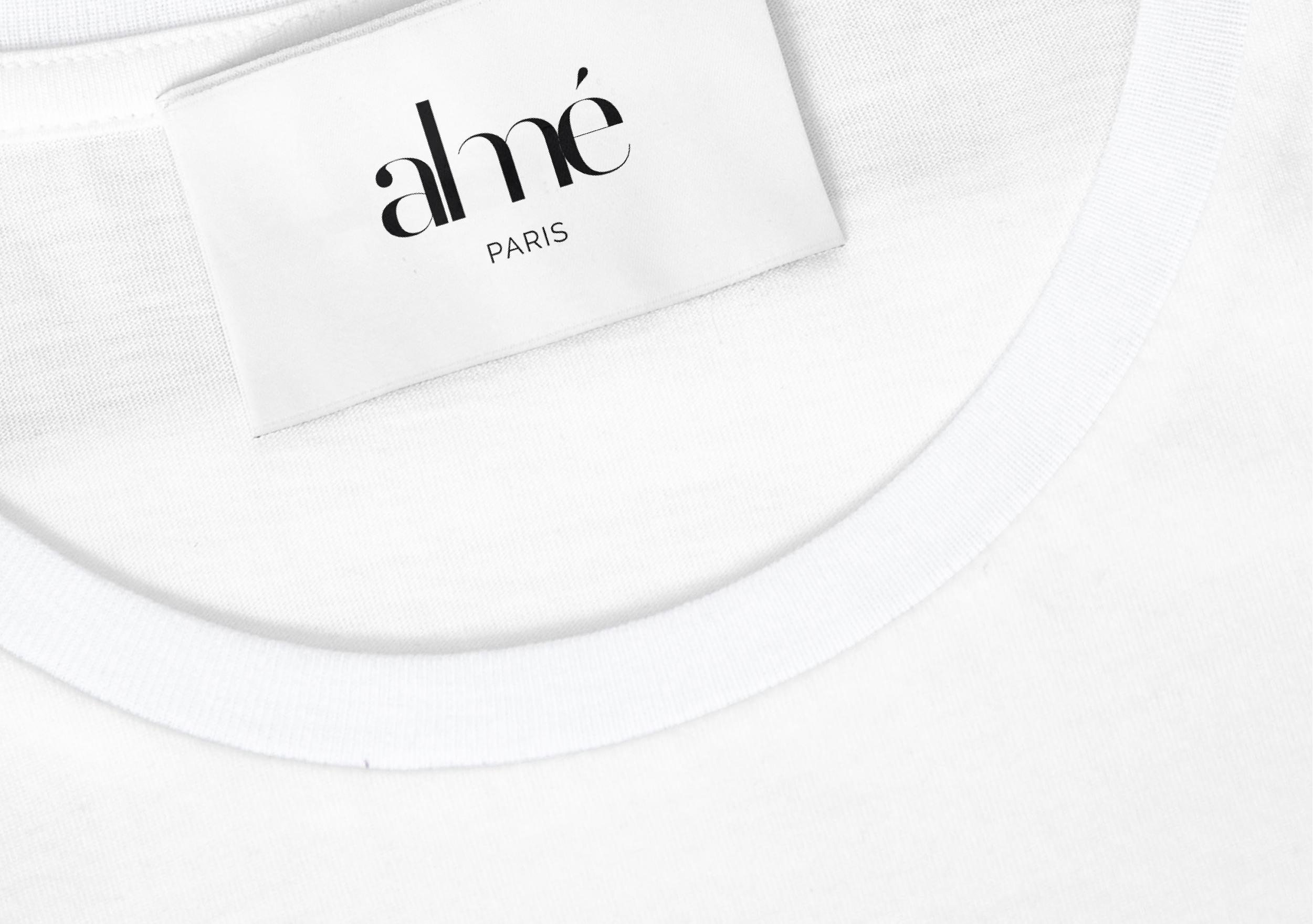étiquette vêtement textile Almé Paris