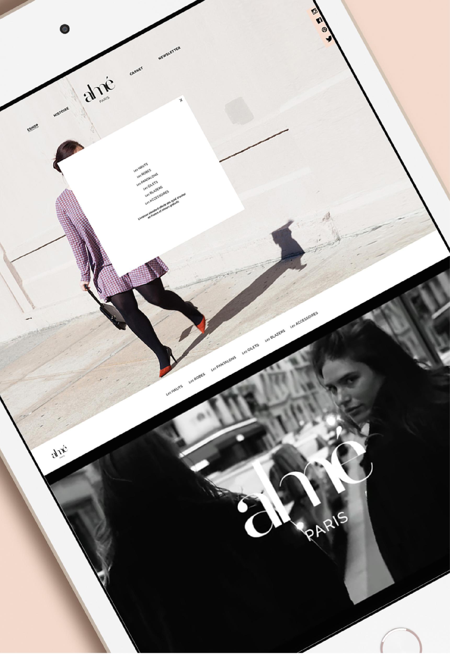 site internet responsive Almé Paris
