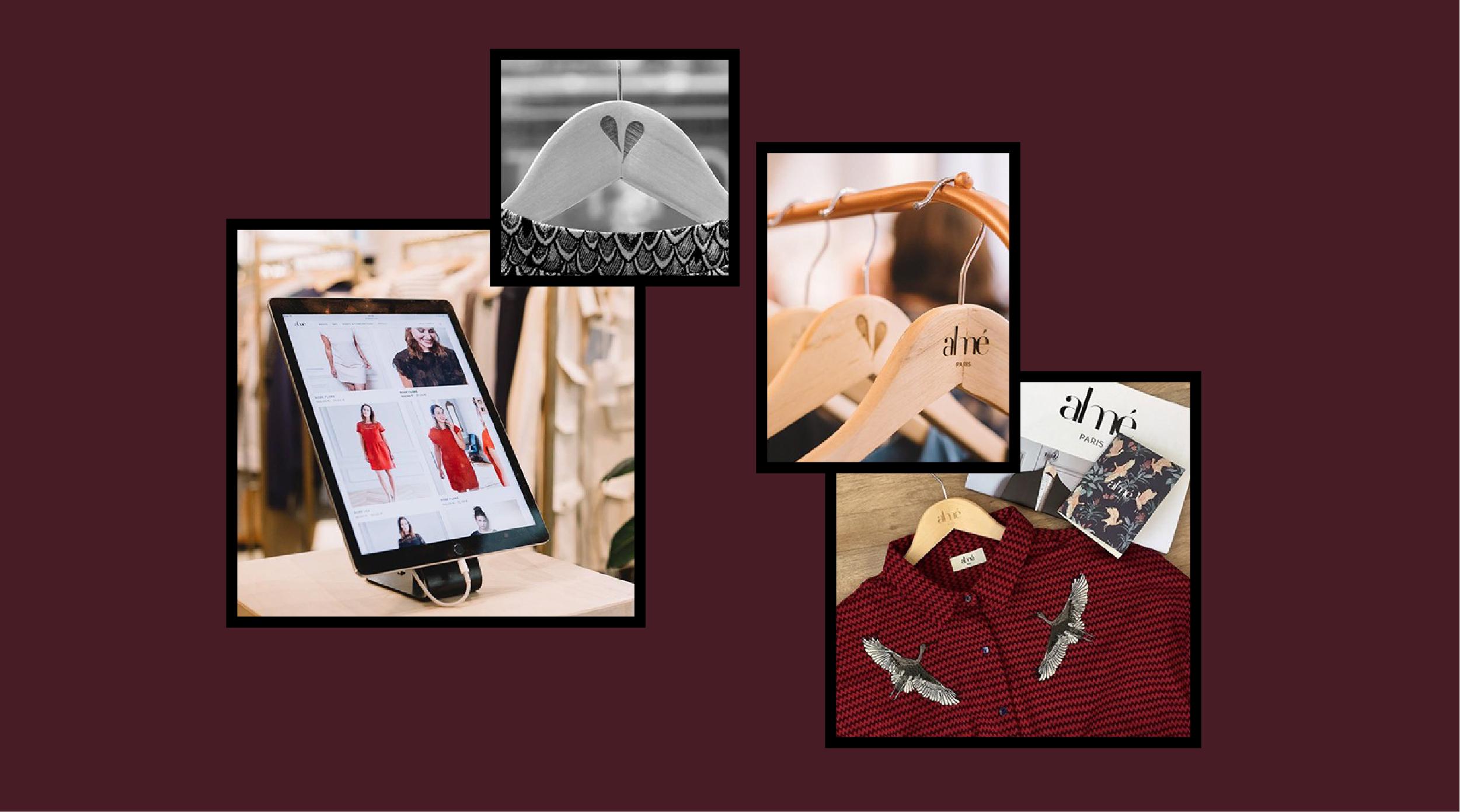 site internet cintres et vêtements Almé Paris