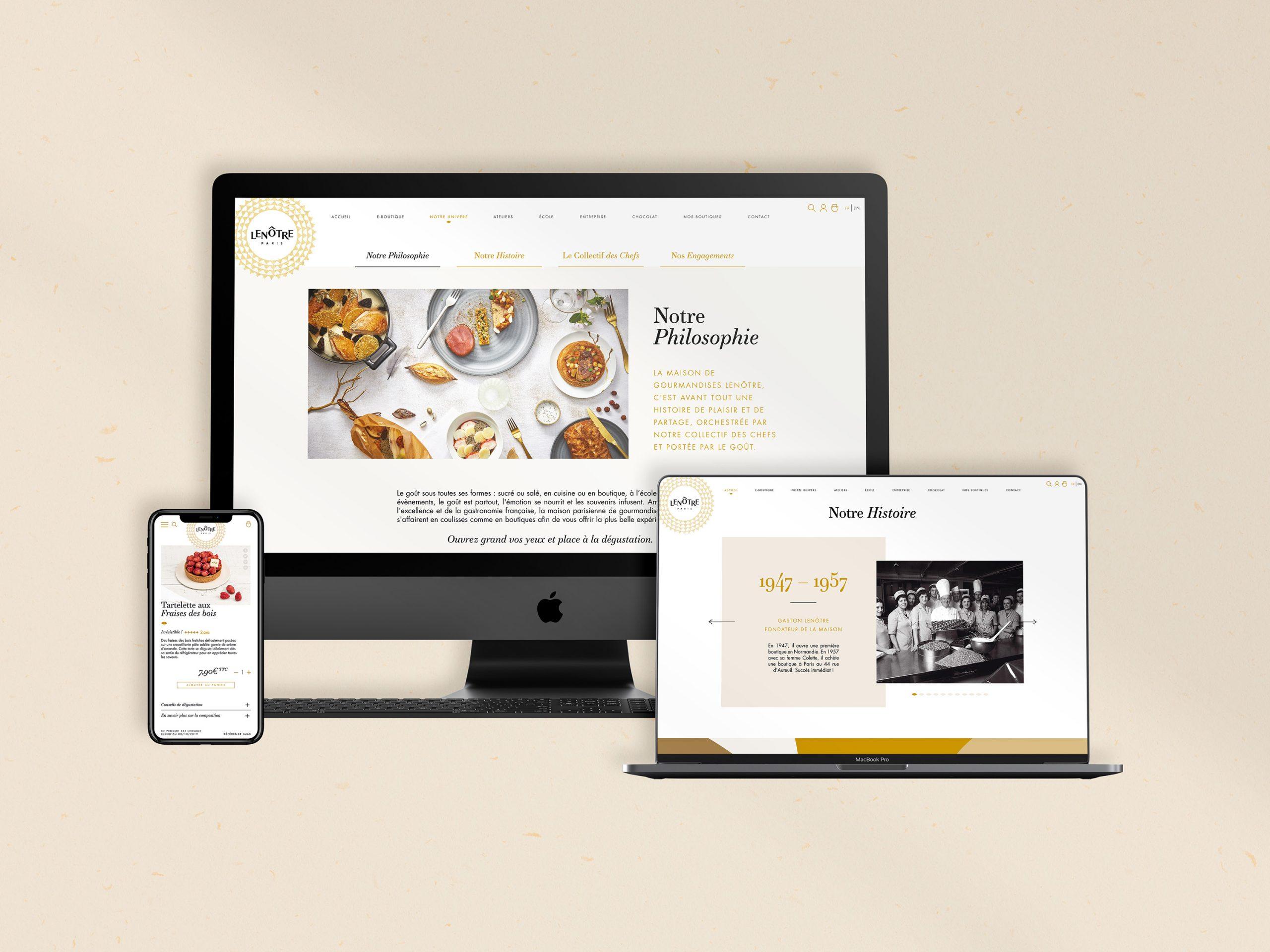 Application charte web Lenôtre