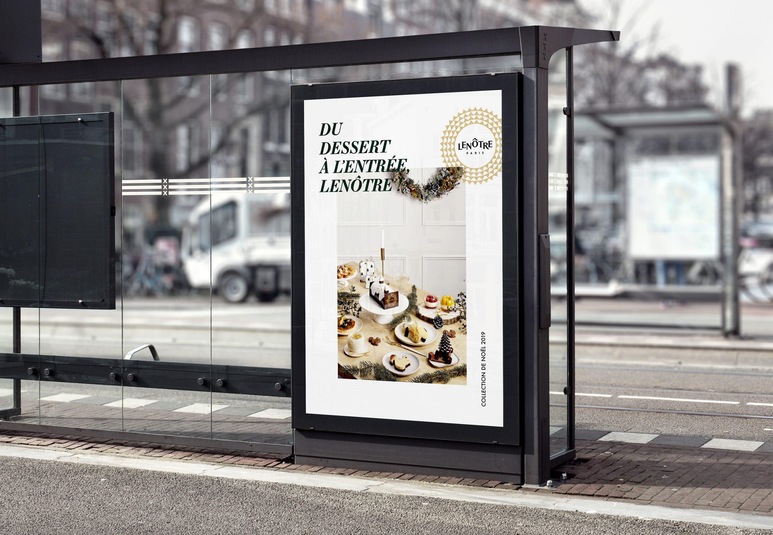 Affiche pub Noël 2019 Lenôtre charte éditoriale
