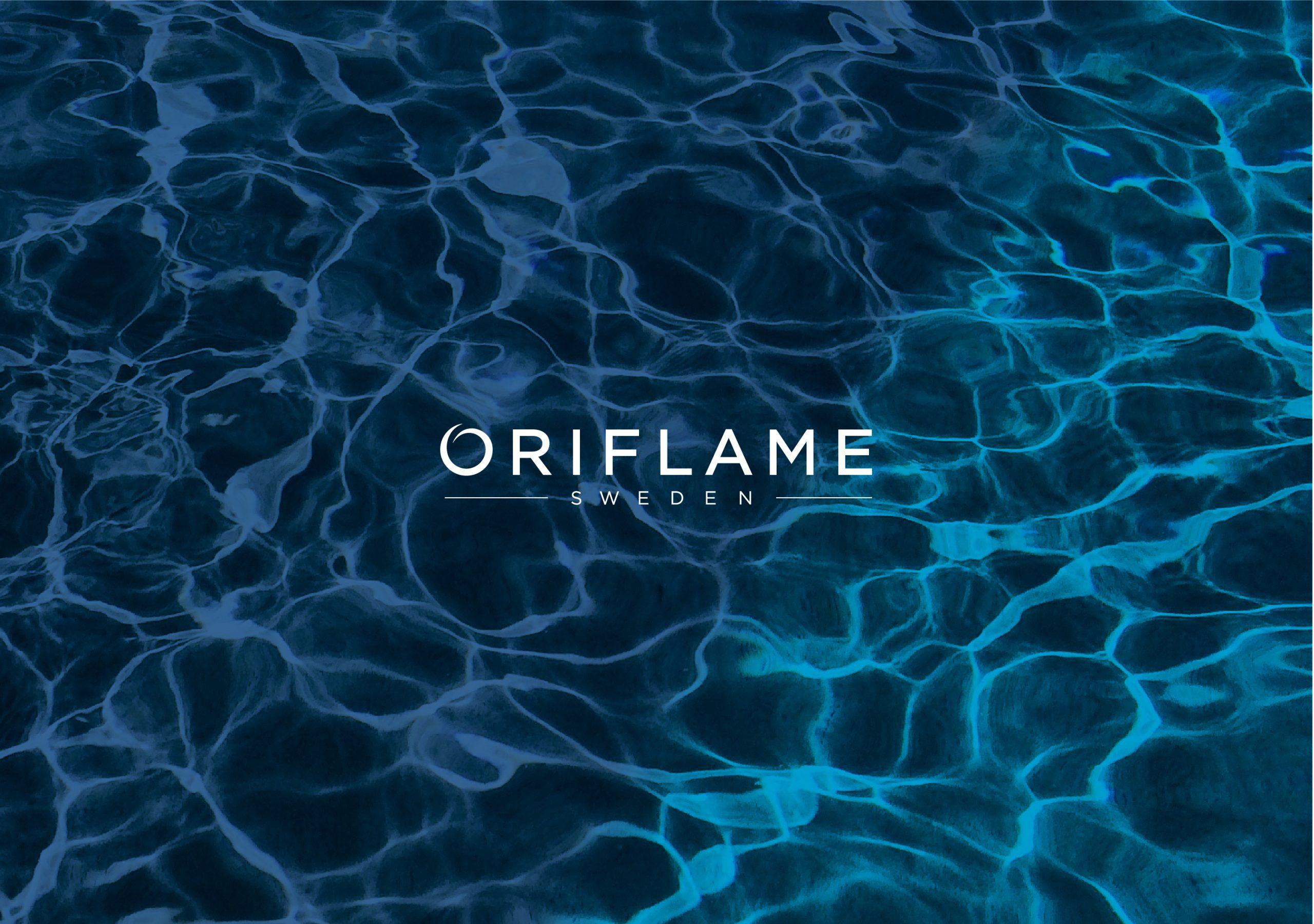 oriflame logo texture liquide