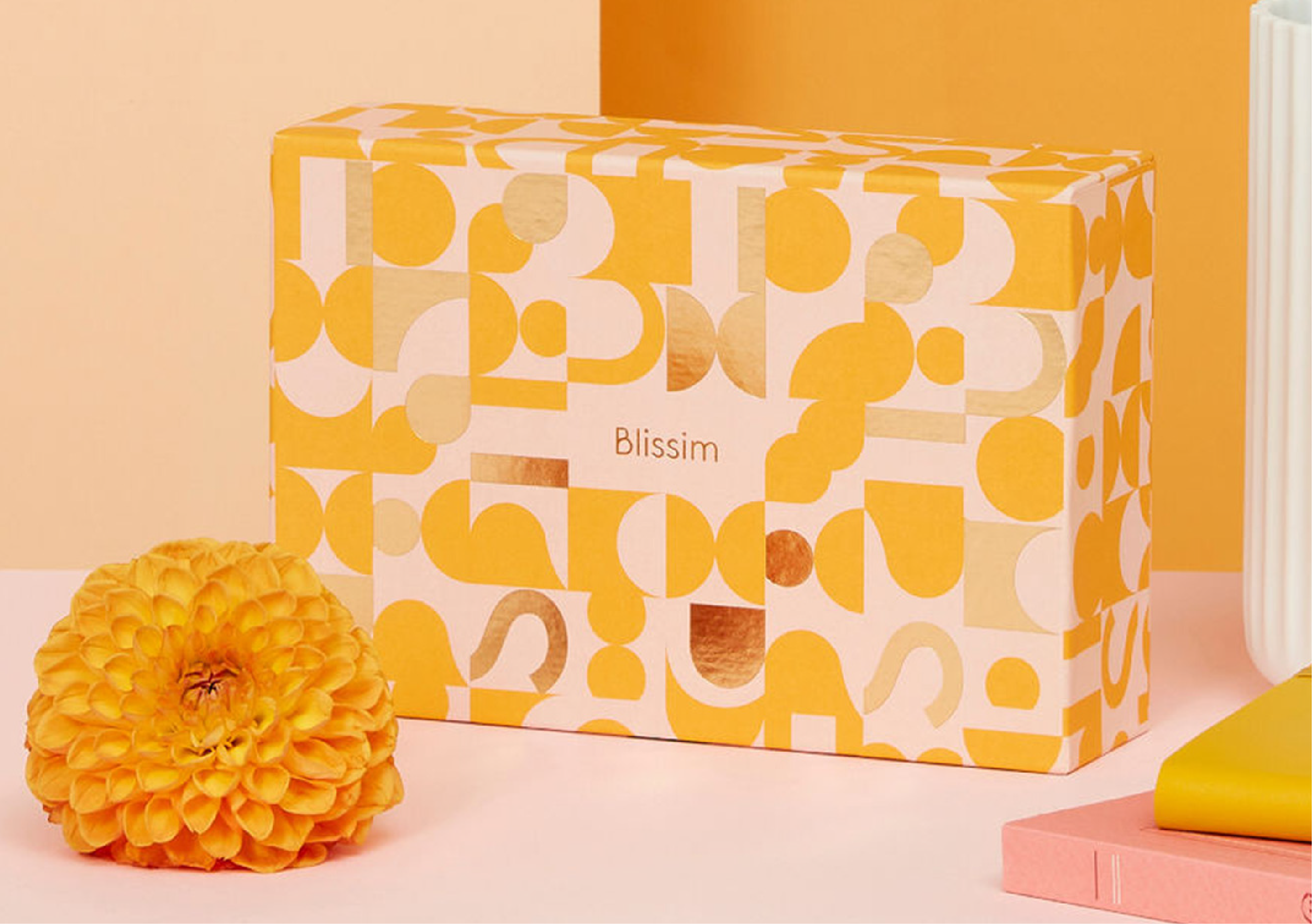 nouvelle box Blissim orange et or birchbox