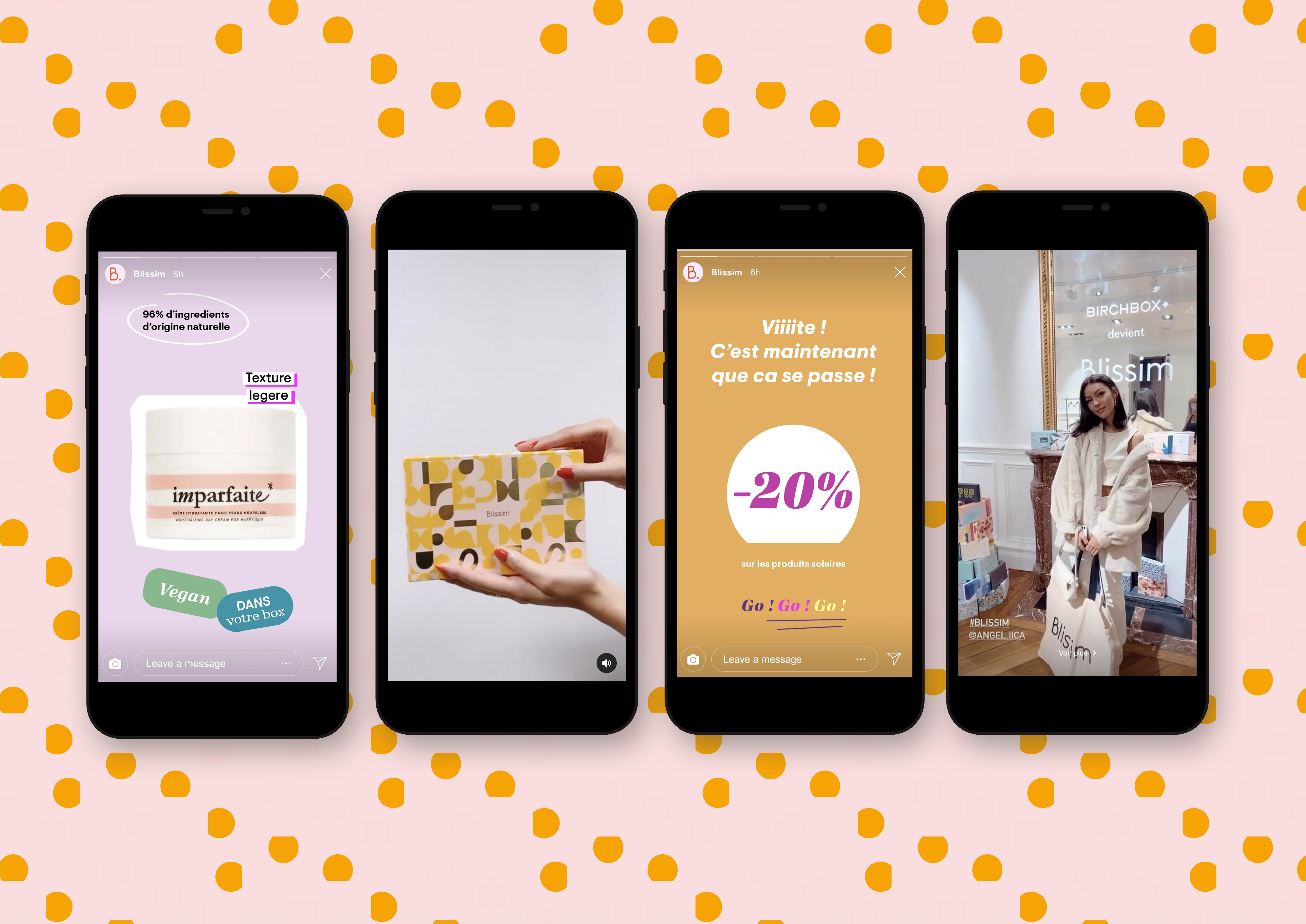 nouvelle identité visuelle birchbox devient blissim story instagram