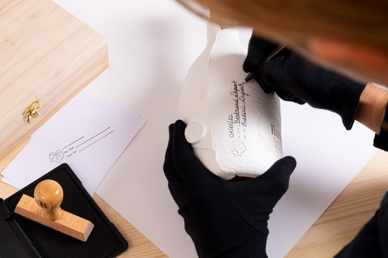 Ruinart packaging personnalisation tampons