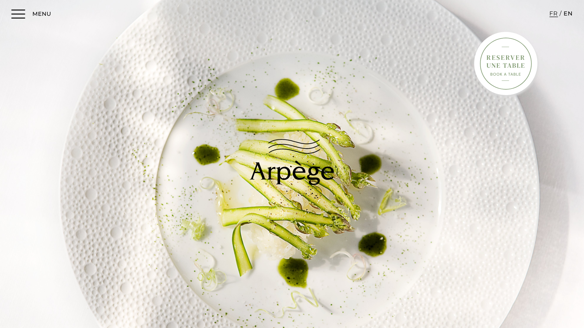 Homepage site L'Arpège Alain Passard