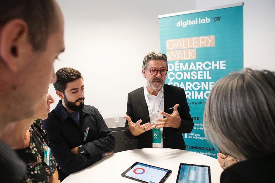 Gallery Walk Digital Lab by Crédit Agricole