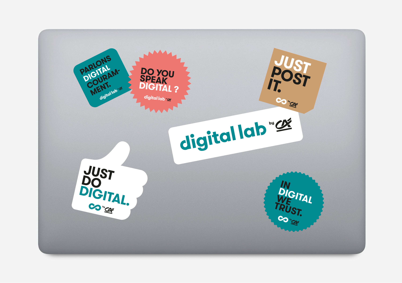 Stickers Digital Lab by Crédit Agricole
