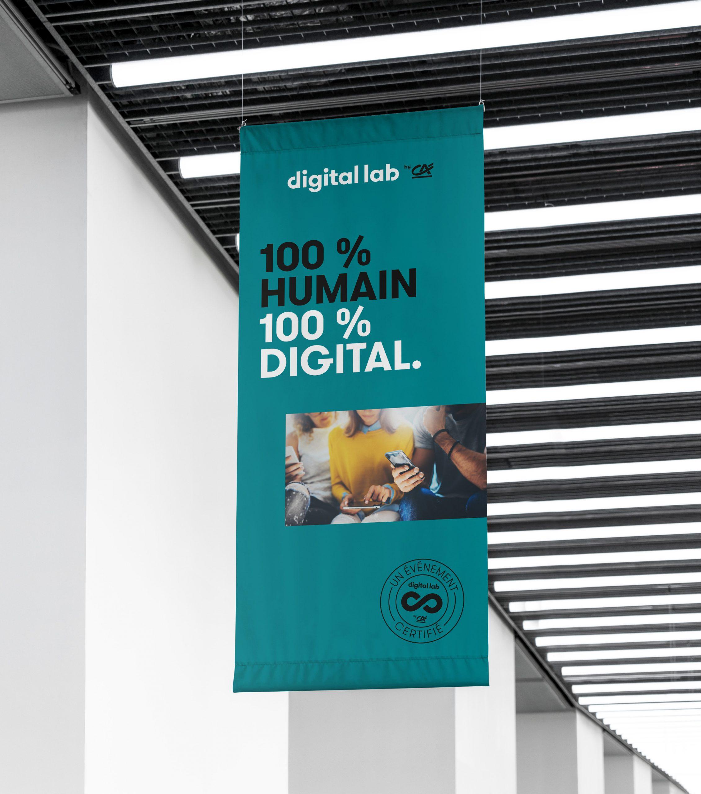 Affiche Digital Lab by Crédit Agricole
