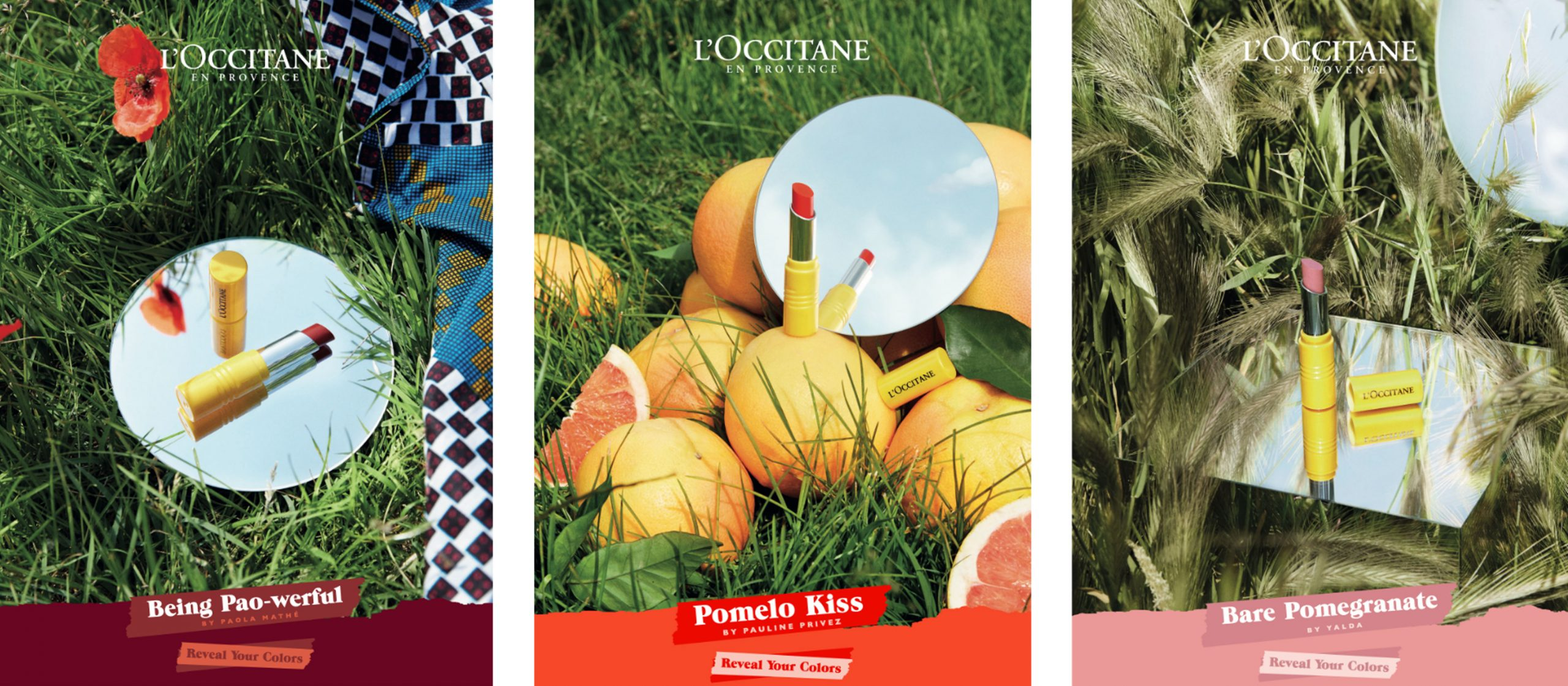 L'Occitane reveal your colors campagne instagram