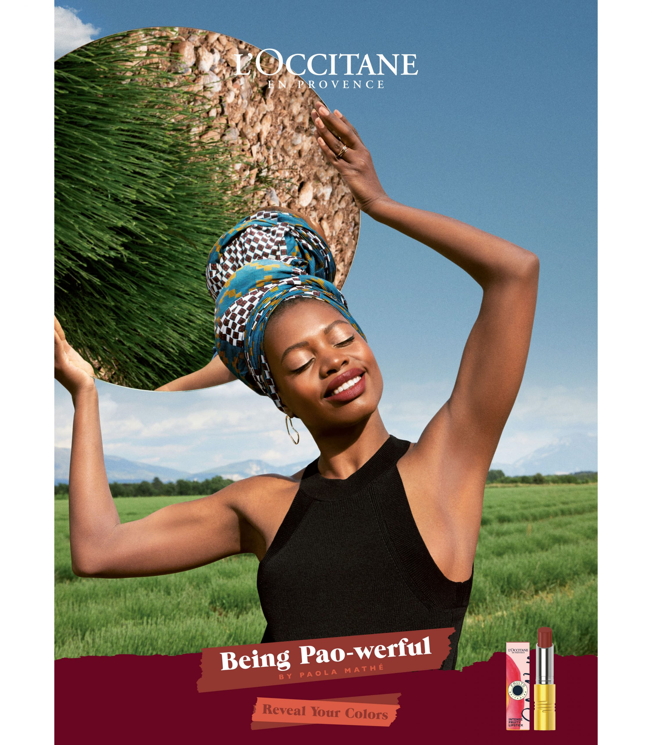 L'Occitane reveal your colors being pao-werful paola mathé