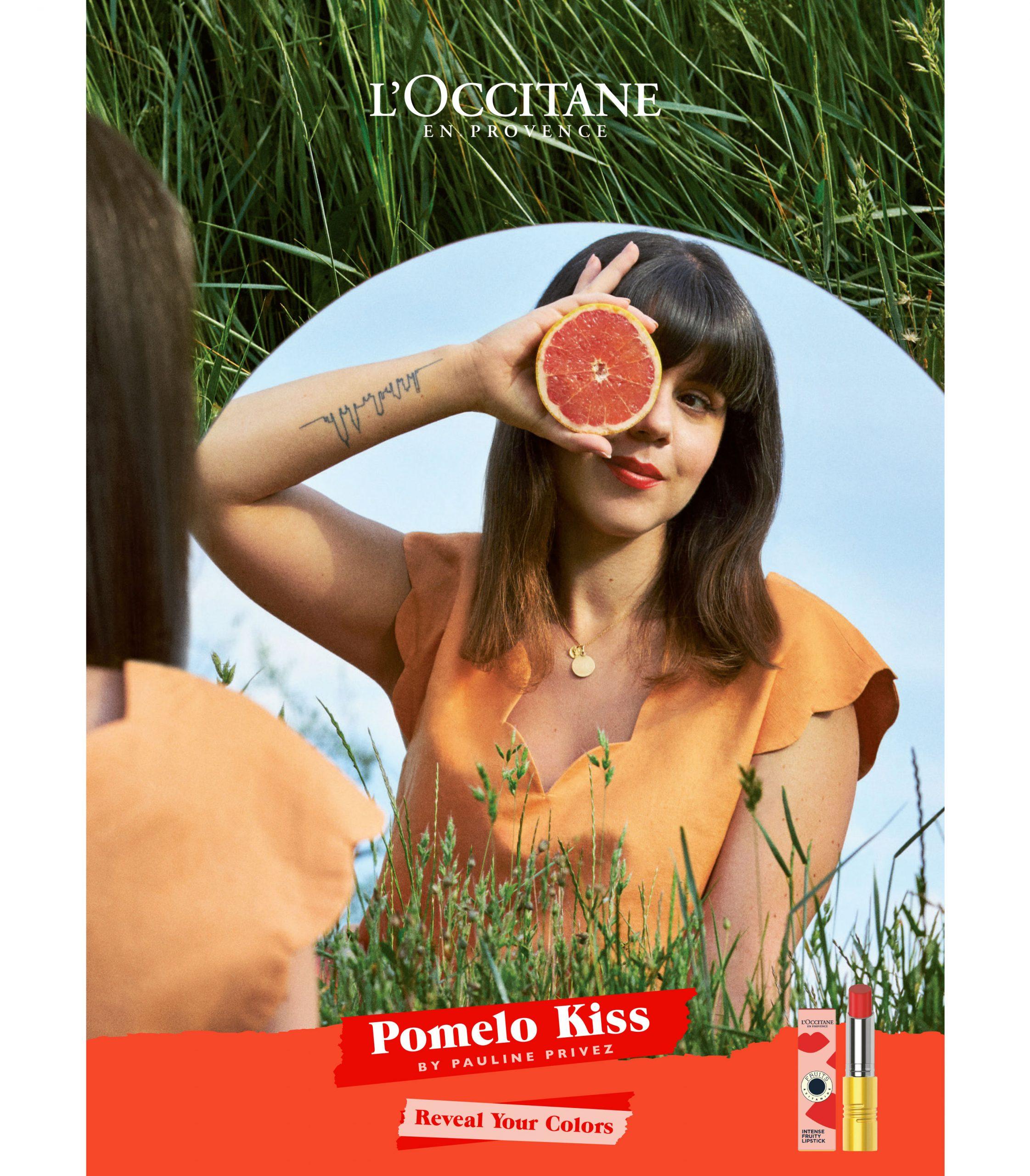 L'Occitane reveal your colors pomelo kiss pauline privez