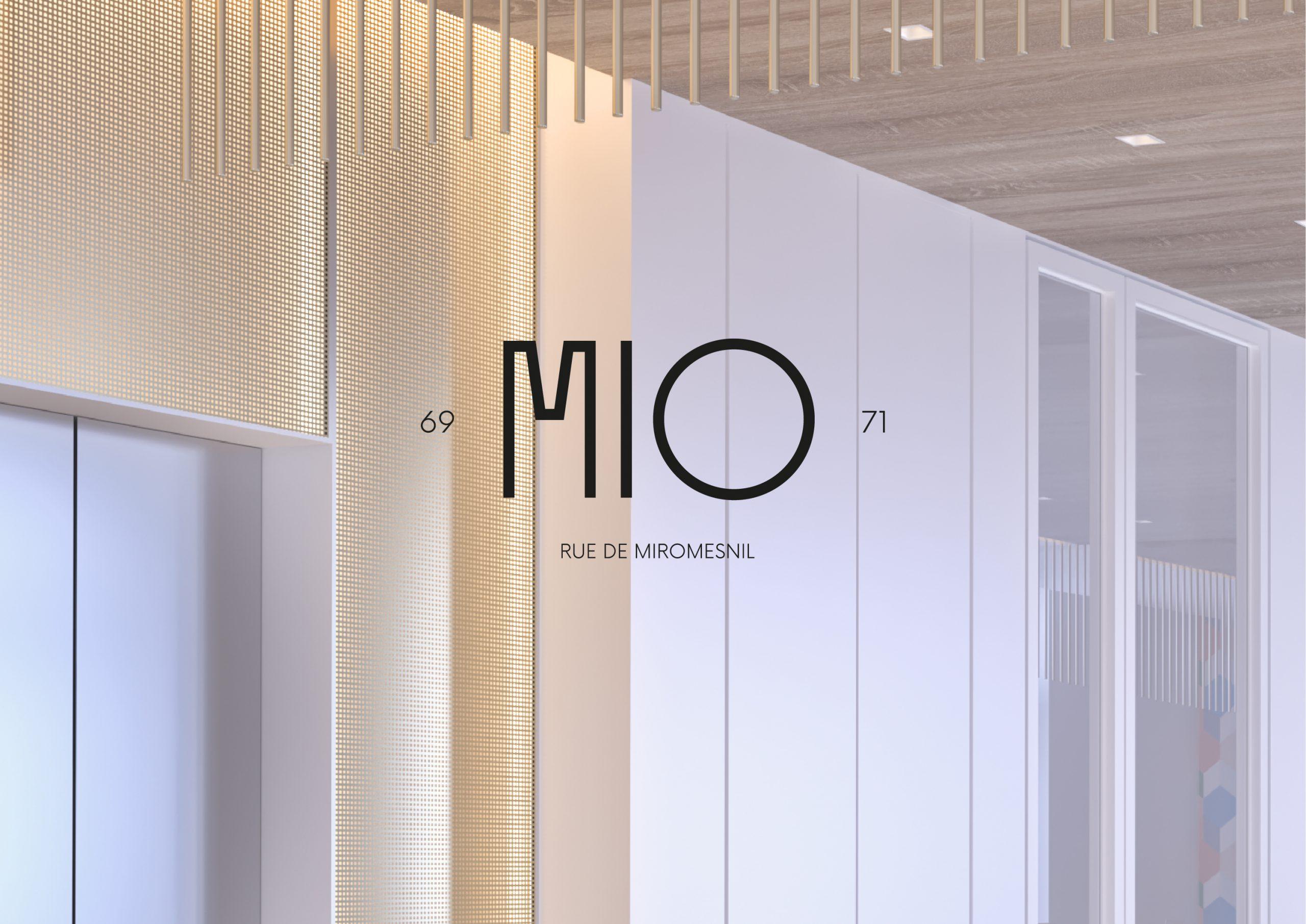 Identité logo MIO rue de miromesnil