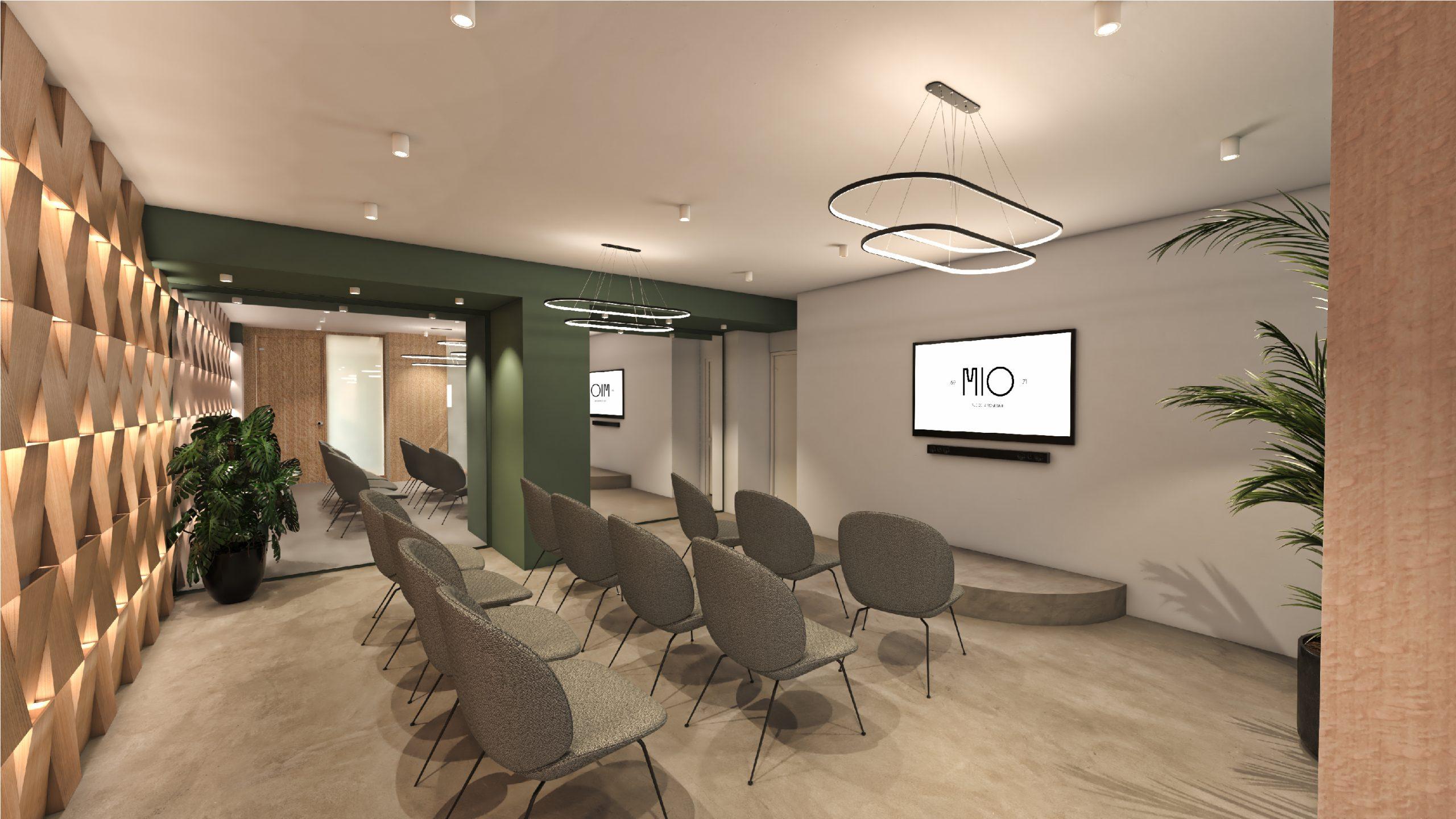 Salle de réunion concept 3D projet immobilier MIO rue de Miromesnil