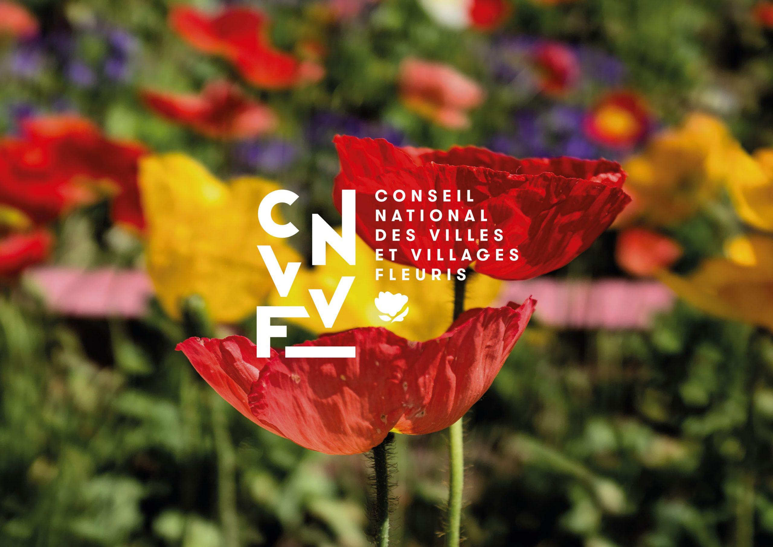 CNVVF villes et villages fleuris logo identité