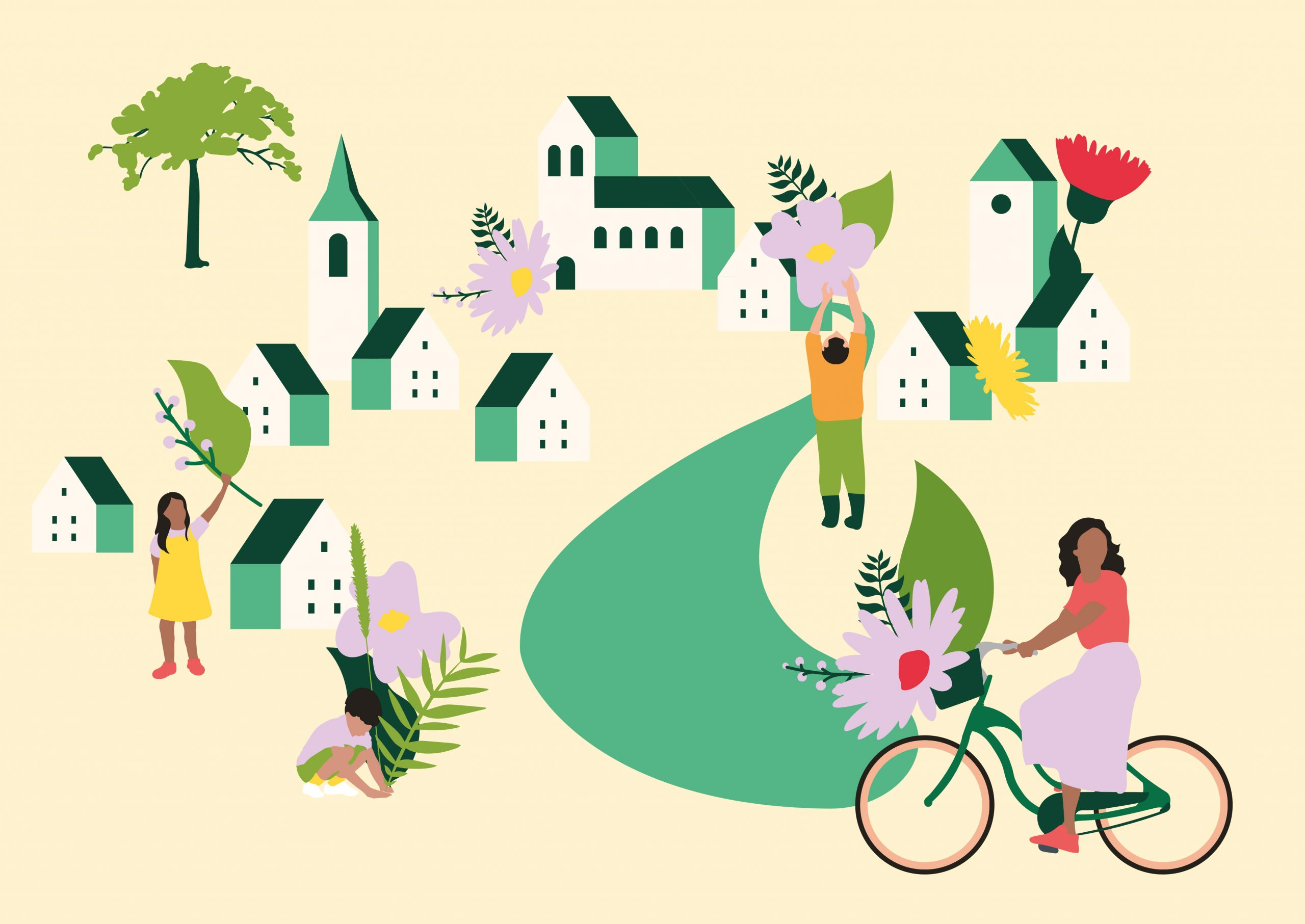 CNVVF villes villages fleuris illustration